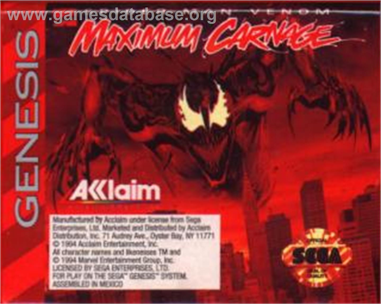 Spider-Man & Venom: Maximum Carnage - Sega Nomad - Games ...