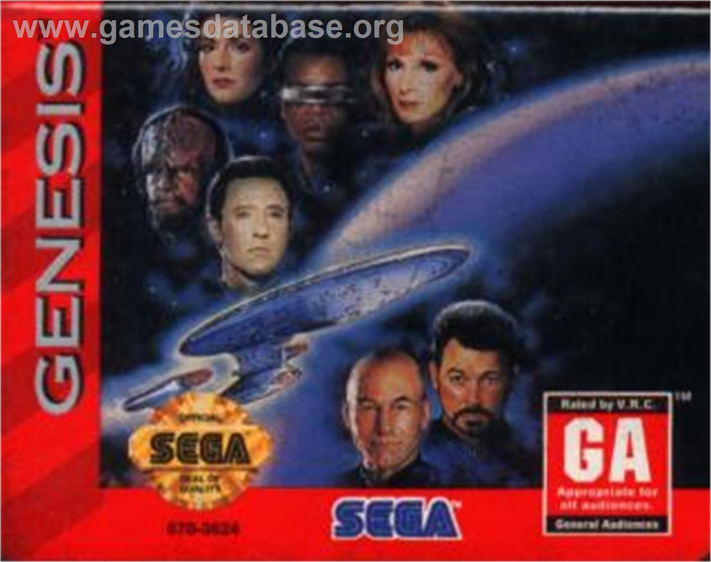 Star Trek The Next Generation - Echoes from the Past - Sega Nomad - Artwork - Cartridge