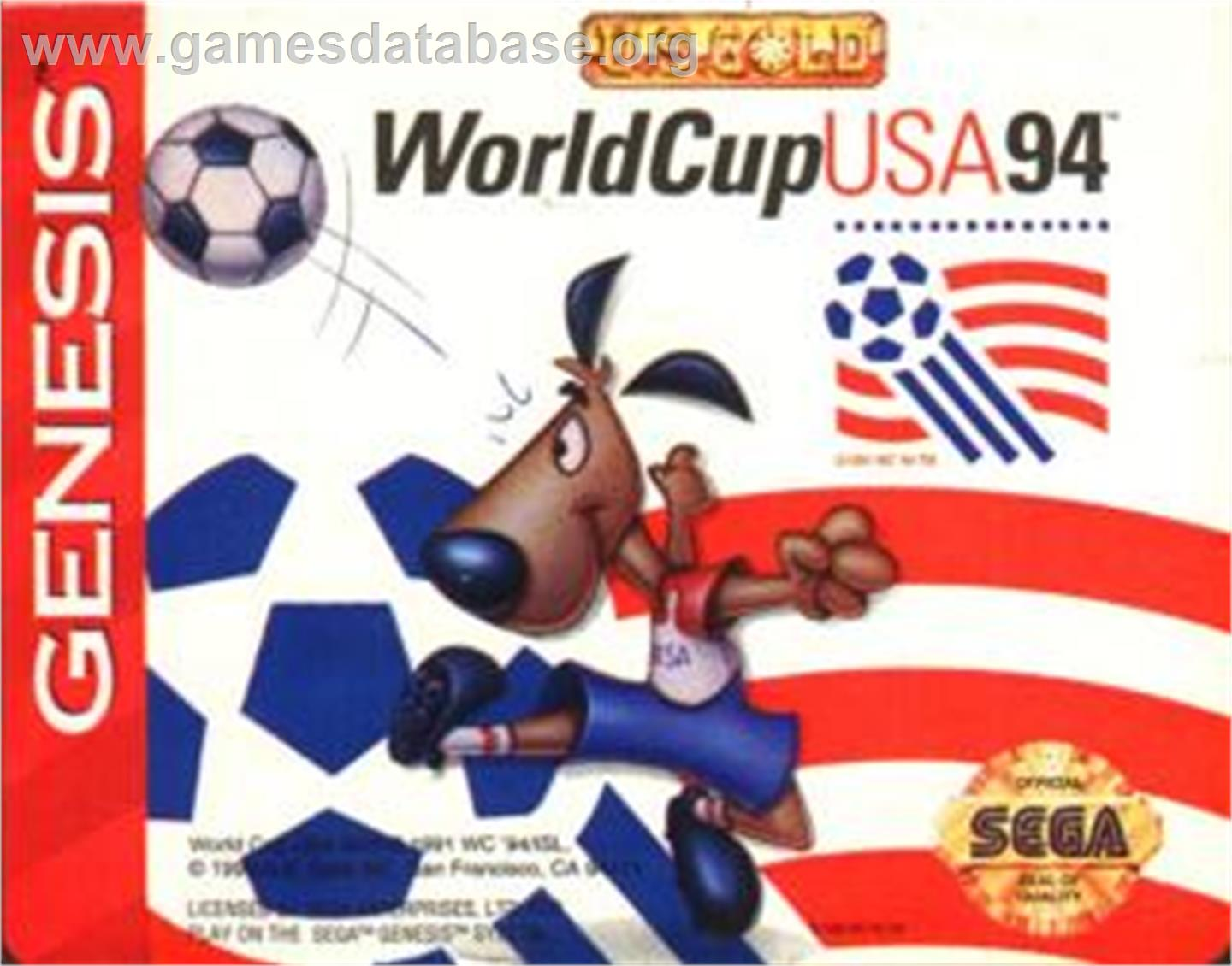 Cartridge artwork for World Cup USA '94 on the Sega Nomad.