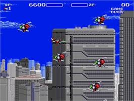 In game image of Air Buster on the Sega Nomad.