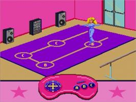 In game image of Barbie Super Model on the Sega Nomad.