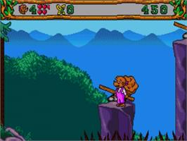 In game image of Berenstain Bears' Camping Adventure, The on the Sega Nomad.