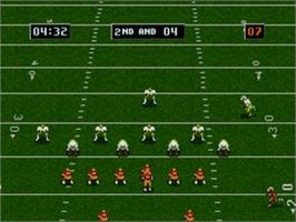 In game image of College Football's National Championship on the Sega Nomad.