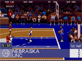 In game image of College Slam on the Sega Nomad.