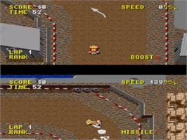 In game image of Combat Cars on the Sega Nomad.