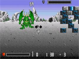 In game image of Death Duel on the Sega Nomad.