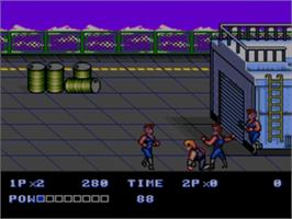 In game image of Double Dragon II - The Revenge on the Sega Nomad.