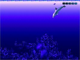 In game image of Ecco 2: The Tides of Time on the Sega Nomad.
