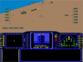 In game image of F-117 Night Storm on the Sega Nomad.