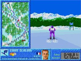 In game image of Games: Winter Challenge, The on the Sega Nomad.