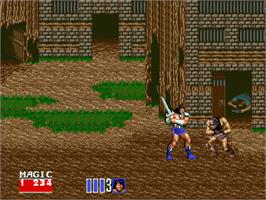 In game image of Golden Axe II on the Sega Nomad.