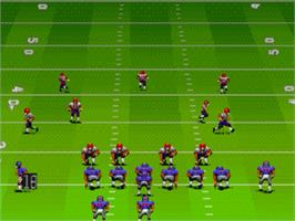 In game image of John Madden Football '92 on the Sega Nomad.