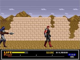 In game image of Last Battle on the Sega Nomad.