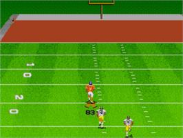 In game image of Madden NFL '97 on the Sega Nomad.