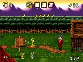In game image of Marsupilami on the Sega Nomad.