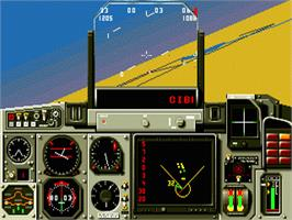 In game image of Mig-29 Fighter Pilot on the Sega Nomad.