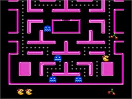 In game image of Ms. Pac-Man on the Sega Nomad.