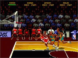 In game image of NBA Hang Time on the Sega Nomad.