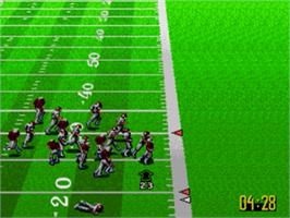 In game image of NFL Quarterback Club '96 on the Sega Nomad.