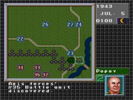 In game image of Operation Europe: Path to Victory 1939-45 on the Sega Nomad.