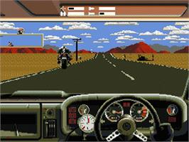 In game image of Outlander on the Sega Nomad.