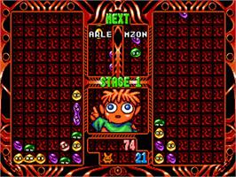 In game image of Puyo Puyo 2 on the Sega Nomad.