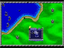 In game image of Rampart on the Sega Nomad.