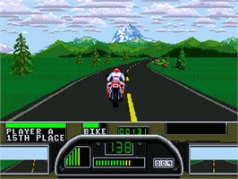 In game image of Road Rash 2 on the Sega Nomad.