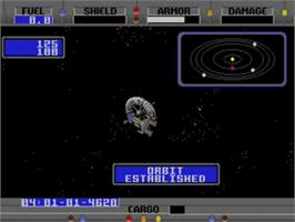 In game image of Starflight on the Sega Nomad.