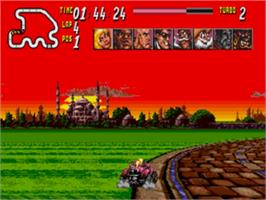 In game image of Street Racer on the Sega Nomad.