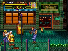 In game image of Streets of Rage 2 on the Sega Nomad.