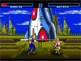 In game image of Time Killers on the Sega Nomad.