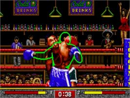In game image of Toughman Contest on the Sega Nomad.