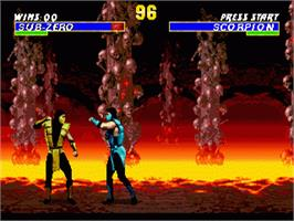 In game image of Ultimate Mortal Kombat 3 on the Sega Nomad.