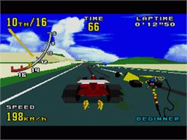 In game image of Virtua Racing on the Sega Nomad.