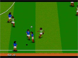 In game image of World Championship Soccer 2 on the Sega Nomad.