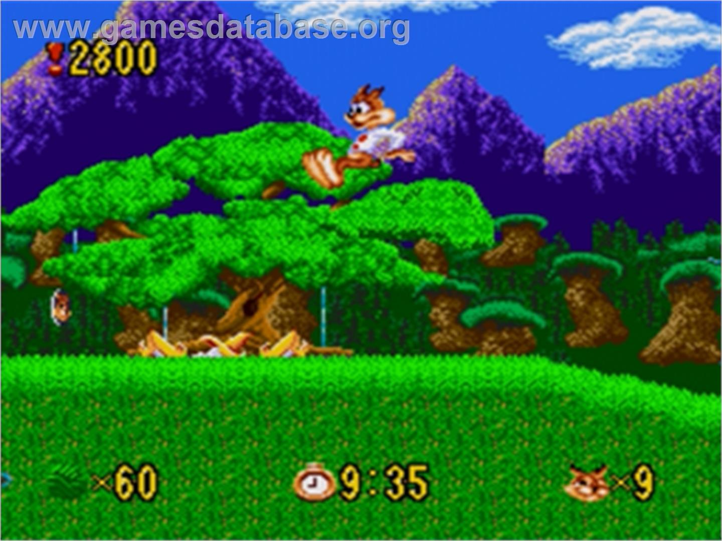 Bubsy in: Claws Encounters of the Furred Kind - Sega Nomad - Artwork - In Game