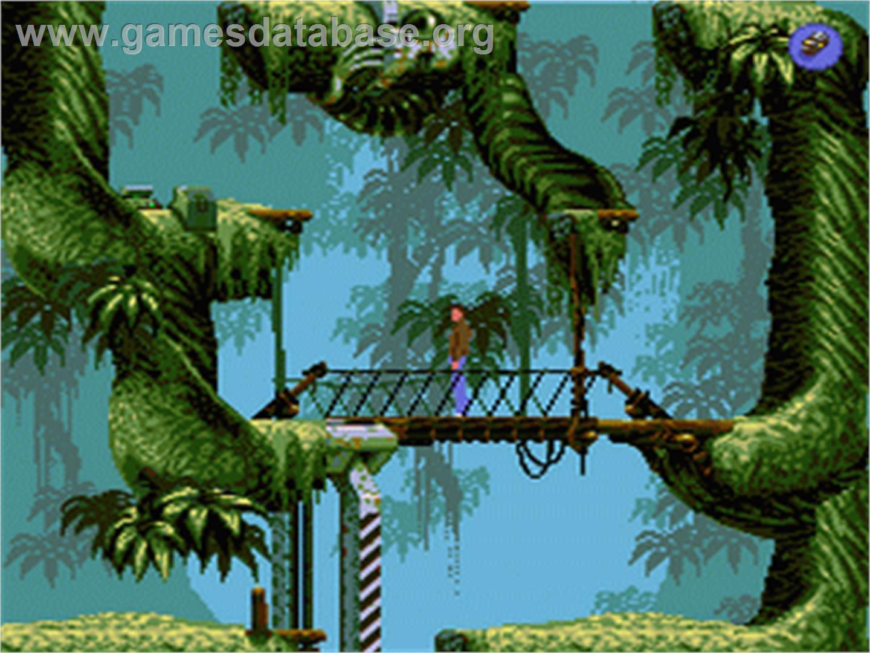 In game image of Flashback on the Sega Nomad.