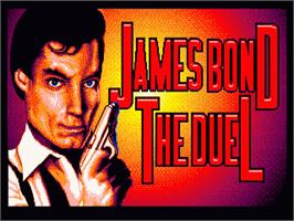 Title screen of 007: The Duel on the Sega Nomad.