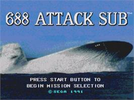 Title screen of 688 Attack Sub on the Sega Nomad.