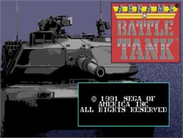 Title screen of Abrams Battle Tank on the Sega Nomad.