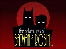 Title screen of Adventures of Batman and Robin, The on the Sega Nomad.
