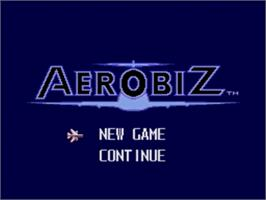 Title screen of Aerobiz on the Sega Nomad.