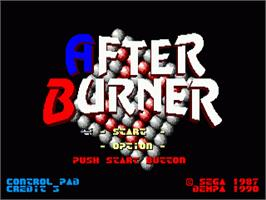 Title screen of After Burner II on the Sega Nomad.