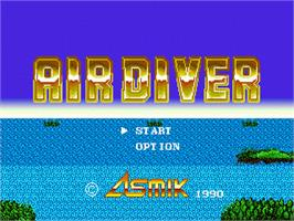 Title screen of Air Diver on the Sega Nomad.