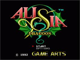 Title screen of Alisia Dragoon on the Sega Nomad.