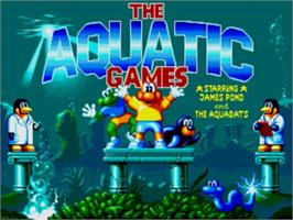 Title screen of Aquatic Games: Starring James Pond, The on the Sega Nomad.