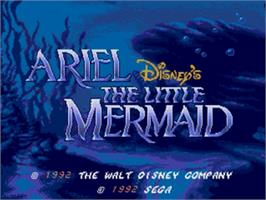 Title screen of Ariel the Little Mermaid on the Sega Nomad.