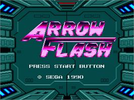 Title screen of Arrow Flash on the Sega Nomad.