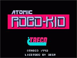Title screen of Atomic Robo-Kid on the Sega Nomad.